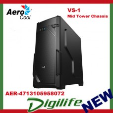 Aerocool Black VS-1 Mid Tower Chassis (USB3) - AER-4713105958072