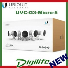 Ubiquiti Networks UVC-G3-Micro 5-Pack 1080p FHD H.264 IP Surveillance Camera