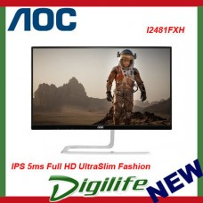 "AOC 23.8"" I2481FXH IPS 5ms Full HD UltraSlim Fashion Monitor FlickerFree"