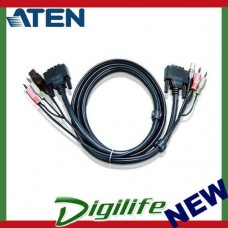 ATEN 1.8M USB DVI-I Single Link KVM Cable 2L-7D02UI