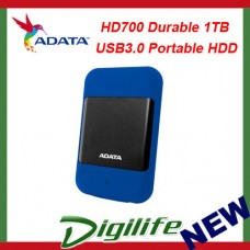 ADATA HD700 Rugged 1TB USB3.0 Portable HDD Blue G Shock Sensor