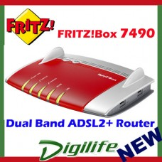 Fritz!Box 7490 Dual Band AC1200 Wireless ADSL2+ VDSL Modem Router AVM7490