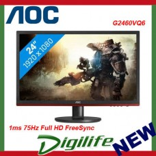 "AOC 24""  Full HD LED G2460VQ6 1ms 75Hz FreeSync Gaming Monitor Speaker,GameModes"