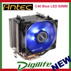Antec C40 Blue LED 92MM CPU Cooler Heatsink Fan Intel 1151 1155 AMD Ryzen AM4