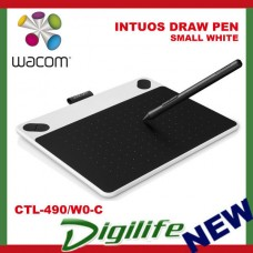 WACOM INTUOS DRAW PEN Tablet SMALL WHITE CTL-490/W0-C