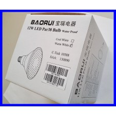 Baorui BZ 12W LED PAR38 E27 Spot Light IP65 Outdoor Waterproof Warm White