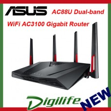 ASUS RT-AC88U Dual-band Wireless AC3100 8x Gigabit Ports Router - NBN Ready