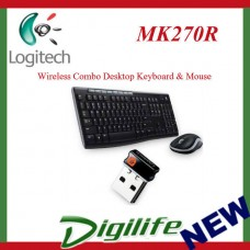 Logitech MK270R Wireless Combo Desktop Keyboard & Mouse Replace MK260 MK270