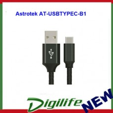 Astrotek AT-USBTYPEC-B1 1m USB-C 3.1 Type-C Data Sync Charger Cable Black