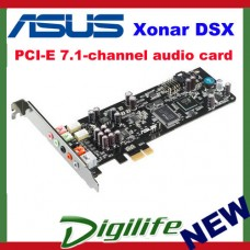 Asus Xonar DSX 7.1 Channels DTS Connect PCI Express PCI-E PC Audio Sound Card