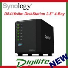 "Synology DiskStation DS416Slim 4-Bay NAS 2.5"" Diskless GbE USB 3.0 Storage"