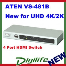Aten VS-481B 4 Port HDMI Switch supports Ultra HD 4K x 2K 3D NEW ARRIVAL