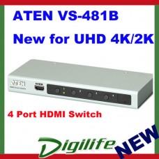 Aten VS-481B 4 Port HDMI Switch supports Ultra HD 4K x 2K 3D NEW ARRIVAL
