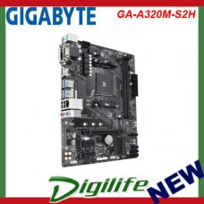 Gigabyte GA-A320M-S2H AMD Ryzen Socket AM4 mATX Motherboard M.2 USB 3.1 HDMI DVI