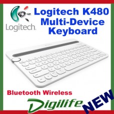 Logitech K480 Bluetooth Multi-Device Keyboard White for smartphone tablet iPad