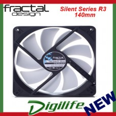 Fractal Design SILENT SERIES R3 Case Fan 140mm 3-pin Connector Sleeved 14cm