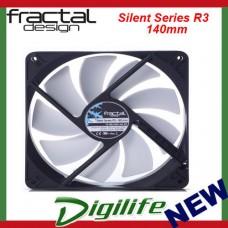 Fractal Design SILENT SERIES R3 Case Fan 140mm 3-pin Connector Sleeved 14cm
