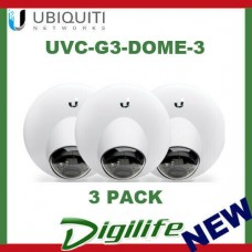 Ubiquiti Networks UVC-G3-DOME-3 FHD H.264 IP Dome Surveillance Camera - 3 Pack