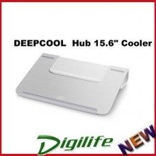 "Deepcool U Hub 15.6"" Notebook Cooler, Aluminium Panel USB 3.0 for MacBook"