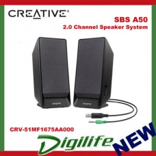 Creative 2.0 Channel SBS A50 Speaker System powered by USB