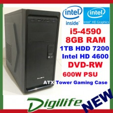 Intel Core i5-4590 3.7GHz DESKTOP COMPUTER 8GB RAM 1TB HDD Gaming & Business PC
