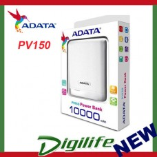 ADATA PV150 Power Bank 10000 mAh White mobile battery