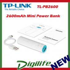 TP-Link TL-PB2600 Portable USB Power Bank Charger 2600mAh mini mobile battery