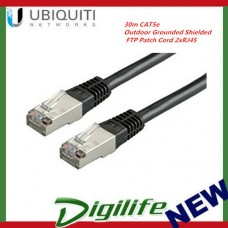 Ubiquiti 30m CAT5e RJ45 LAN Cable Outdoor Grounded Shielded FTP Patch Cord