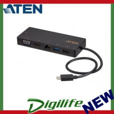 ATEN UH3236 USB-C Multiport Mini Dock with Power Pass-Through UH3236-AT