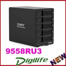 "ORICO 5 Bay 3.5"" USB3.0 RAID HDD Storage Enclosure Hot Plug 9558RU3-BK"