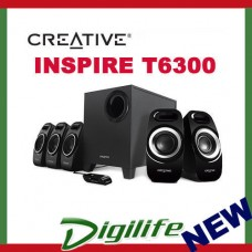 Creative Inspire T6300 5.1 Surround Speaker IFP Design Dual Slot Enclosure