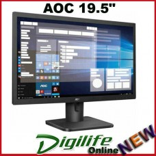 "AOC 19.5"" 5ms 1600x900 Business Monitor HDM1.4/VGA Tilt VESA100mm 20E1H/75"