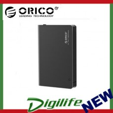 "Orico 2.5"" Hard Drive Enclosure with USB 3.1 Type-C Port Black 2598C3"