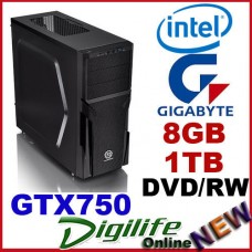 Intel i5-4590 3.7GHz DESKTOP COMPUTER 8GB 1TB GTX750/2GB Gaming & Business PC
