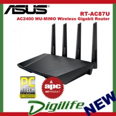 ASUS RT-AC87U AC2400 Dual Band Wireless MU-MIMO GbE Router NBN Ready