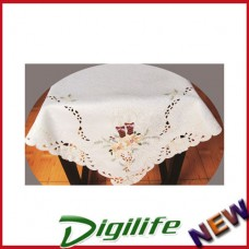 Vintage Luxury Hand Embroidery and Cutwork Table Cloth Christmas XLY-1116 36*36""