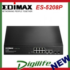 Edimax 8-Port 10/100M PoE+ WebSmart Switch + 2 Giga SFP Combo