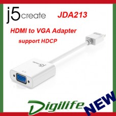 j5create HDMI to VGA Adapter (support HDCP) JDA213