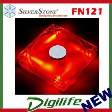 SilverStone FN121-P-RL 120mm LED 58.47 CFM 1200 rpm Case Fan RED