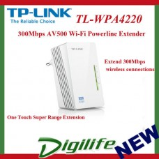 TP-Link TL-WPA4220 300Mbps AV500 WiFi Powerline Range Extender N300 Wireless